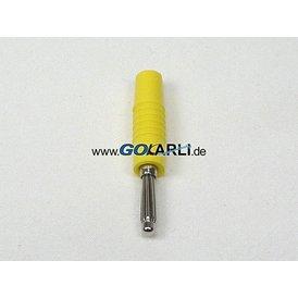 Schnepp Büschelstecker 4 mm Ø gelb Schraubanschluss