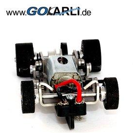 Slotdevil Mikro Metall Chassis Komplettkit GO PU Reifen