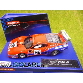 Carrera Digital 132 Ferrari 512 BB LM NART Nr.68 Daytona 79