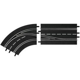 Carrera Digital 132 Spurwechselkurve links innen nach außen