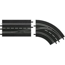 Carrera Digital 132 Spurwechselkurve rechts innen nach außen