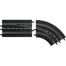 Carrera Digital 132 Spurwechselkurve rechts außen nach innen