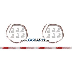 Carrera GO / Digital 143 Leitplanken Set C Weiss Neu