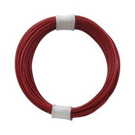 Kupferschalt Litze rot - extra duenn 0,04 mm 10m Ring wie...