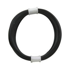 Kupferschalt Litze schwarz - extra duenn 0,04 mm 10m Ring...