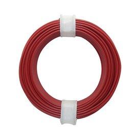 Kupferschalt Litze rot 0,14 mm 10m Ring wie BRAWA