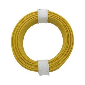 Kupferschalt Litze gelb 0,14 mm 10m Ring wie BRAWA