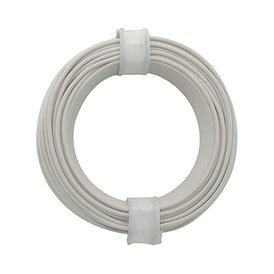 Kupferschalt Litze weiß 0,14 mm 10m Ring wie BRAWA