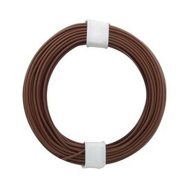 Kupferschalt Litze braun 0,14 mm 10m Ring wie BRAWA
