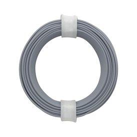 Kupferschalt Litze grau 0,14 mm 10m Ring wie BRAWA