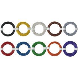 Kupferschalt Litze alle 10 Farben 0,14 mm² je Farbe ein...