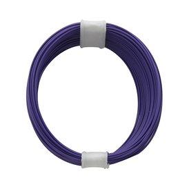 Kupferschalt Litze violett - extra duenn 0,04 mm 10m Ring...