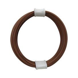 Kupferschalt Litze braun - extra duenn 0,04 mm 10m Ring...