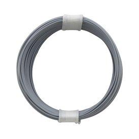 Kupferschalt Litze grau - extra duenn 0,04 mm 10m Ring...