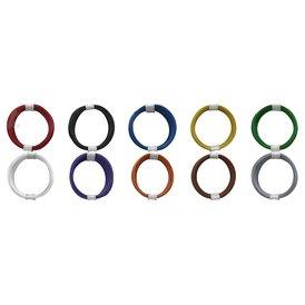 Kupferschalt Litze alle 10 Farben - extra duenn 0,04 mm...